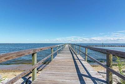 Photograph - Pier At Highland Beach by Charles Kraus