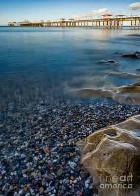 Coastline Digital Art - Pier At Llandudno by Adrian Evans