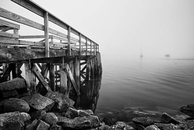 Photograph - Pier At Popham by Vic Bouchard