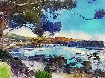 Digital Art - Pier At San Simeon by Jo-Anne Gazo-McKim