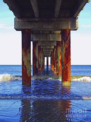 Photograph - Pier At St Augustine Beach by D Hackett