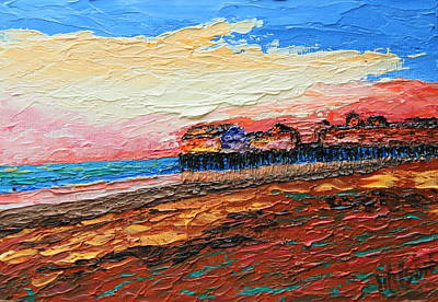 Painting - Old Orchard Pier At Sunrise by Chrys Wilson