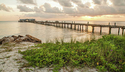 Photograph - Pier At Sunrise by Geraldine Alexander