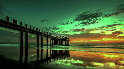 Photograph - Pier At Sunrise - South Africa by Pixabay