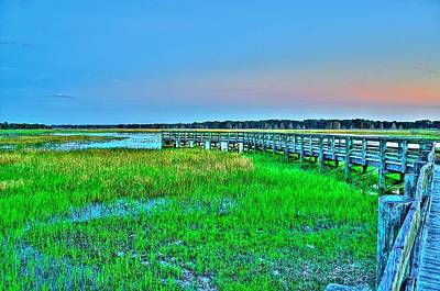 Photograph - Pier At Sunset 4 by Richard Zentner