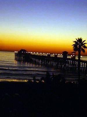 Art Print featuring the photograph Pier At Sunset by Amanda Eberly-Kudamik