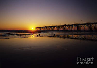 Photograph - Pier At Sunset by Bill Schildge - Printscapes