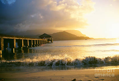 Pier At Sunset Art Print by Peter French - Printscapes