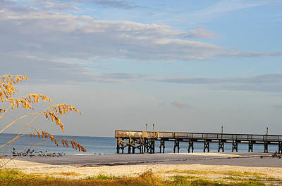 Photograph - Pier At The Beach by Rose  Hill