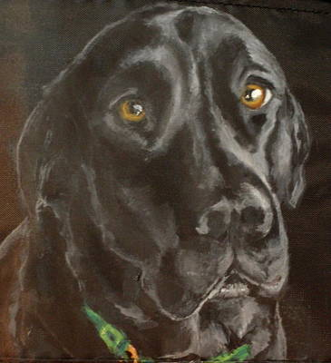 Dog Close-up Painting - Pier by Carol Russell