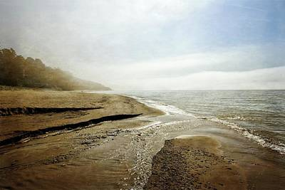 Photograph - Pier Cove Creek Mouth At Lake Michigan by Michelle Calkins