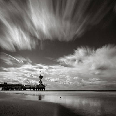 Pier End Art Print by Dave Bowman