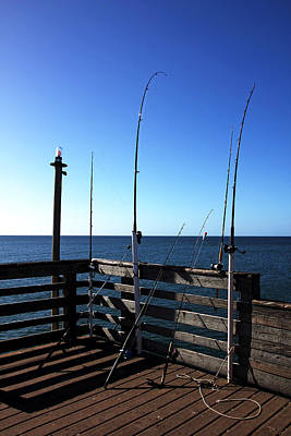 Photograph - Pier Fishing by Debbie Oppermann