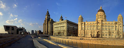 Scouse Photograph - Pier Head Liverpool Panorama 3 by Steve Kearns