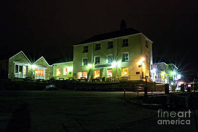 Photograph - Pier House Hotel And Restaurant Charlestown At Night by Terri Waters