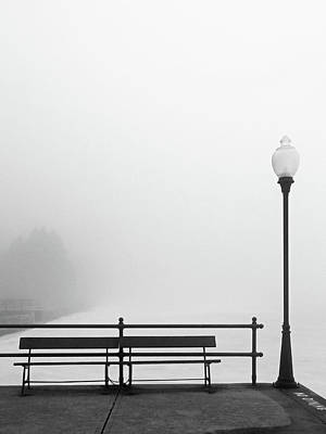 Photograph - Pier In Fog, Early Spring by Brooke T Ryan