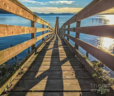 Photograph - Pier In Olga by William Wyckoff