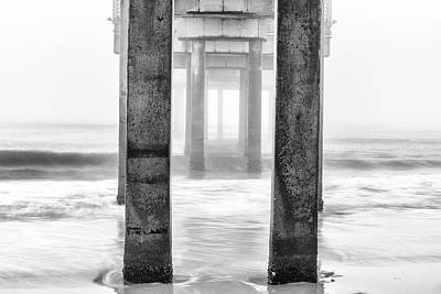 Photograph - Pier In Orange Beach Al Black And White  by John McGraw