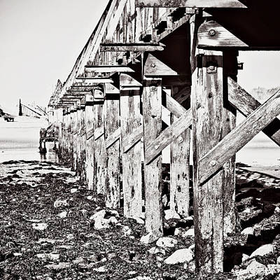 Pier In Sepia Art Print