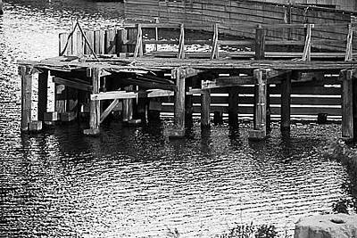 Photograph - Pier In The Lower Charles Basin by Allan Morrison