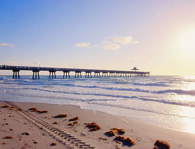 Photograph - Pier In The Sun - Florida by MTBobbins Photography