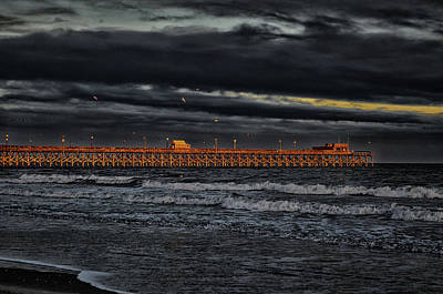 Photograph - Pier Into Darkness by Kelly Reber