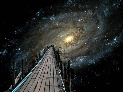 One Of The Steps Digital Art - Pier Into Space Galaxy 3 Deep by Gregory Smith