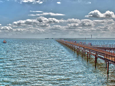 Pier Into The English Channel Art Print