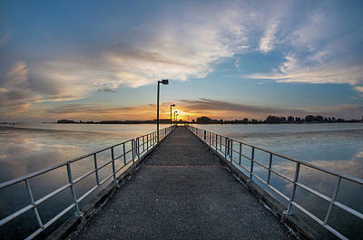 Photograph - Pier Into The Sun by Greg Nyquist