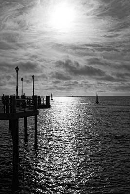 Photograph - Pier Into The Sun by Michael Hope