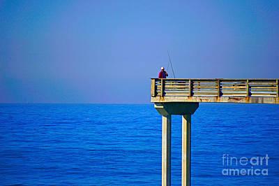 Photograph - Pier Man by Bob Brents