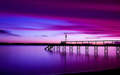 Sunset Digital Art - Pier by Maye Loeser