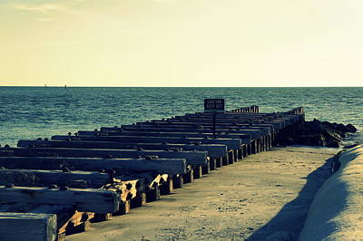 Wooden Platform Photograph - Pier Of The Past by Laurie Perry