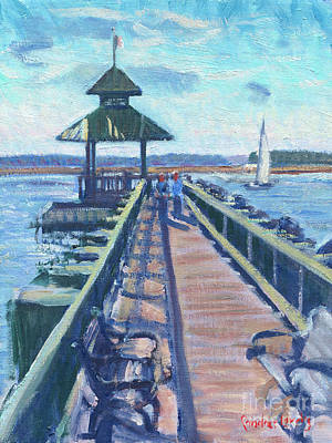 Painting - Pier On Calibogue Sound by Candace Lovely
