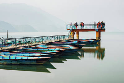 Photograph - Pier On Fewa Lake In Pokhara by Dutourdumonde Photography