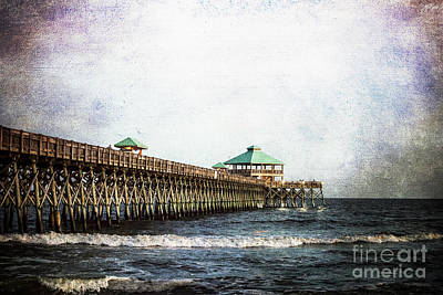Photograph - Pier On Folly Beach by Judy Wolinsky