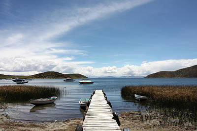 Photograph - Pier At Lake Titicaca, Bolivia by Aidan Moran