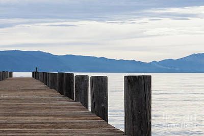 Art Print featuring the photograph Pier On The Lake by Ana V Ramirez