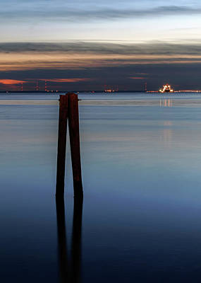Photograph - Pier Pylon At Chamberlin by Jerry Gammon