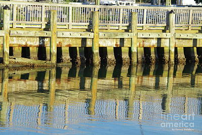 Photograph - Pier Reflection by Tannis Baldwin