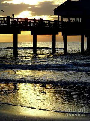 Photograph - Pier Reflections by D Hackett