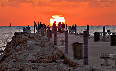 Fort Pierce Digital Art - Pier Rise by Bruce Roker