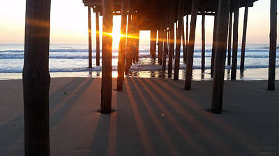 Photograph - Pier Shadows by Robert Banach