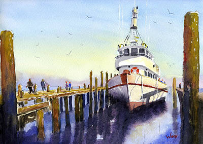 Painting - Pier Side by Brett Winn