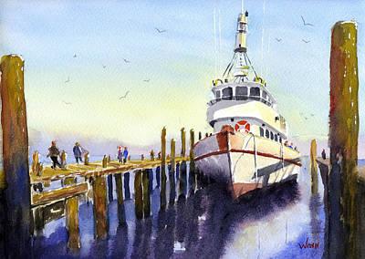 Painting - Pier Side by Brett Winn
