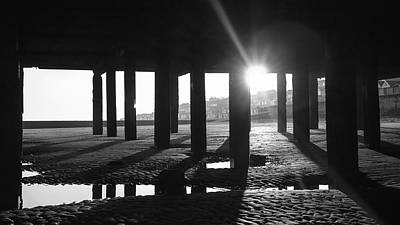 White River Scene Photograph - Pier Silhouettes by Martin Newman