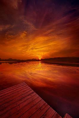Heaven Photograph - Pier Sittin by Phil Koch