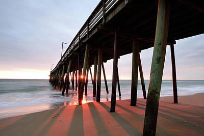 Photograph - Pier Sunburst by Jamie Pattison