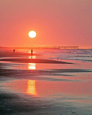 Photograph - Pier Sunrise by Alan Raasch