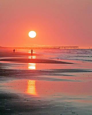 Photograph - Pier Sunrise by Alan Raasch
